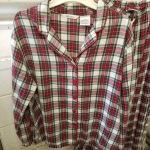 Delicates Intimates & Sleepwear - Delicates Large Red Black White Plaid Pajama Set